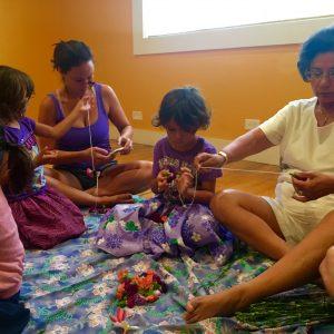hula halau lei making